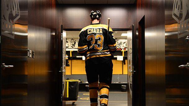 Zdeno Chara #33 of the Boston Bruins