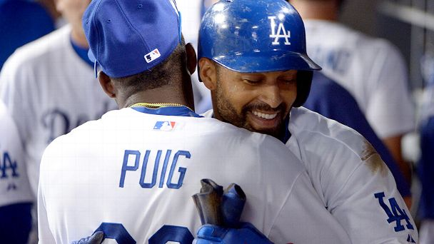 Matt Kemp and Yasiel Puig