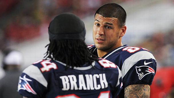 Deion Branch and Aaron Hernandez