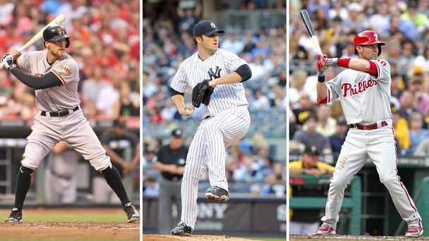 Hunter Pence, Phil Hughes, Michael Young