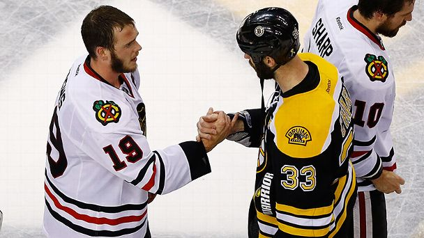 Zdeno Chara and Jonathan Toews