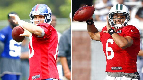 Eli Manning and Mark Sanchez