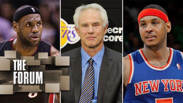 LeBron James, Mitch Kupchak, Carmelo Anthony