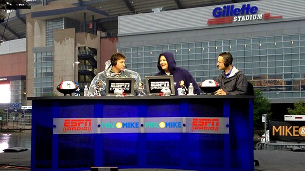 Mike & Mike at Gillette Stadium