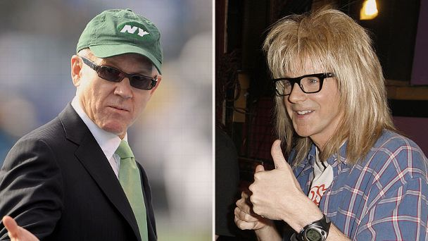 Woody Johnson and Dana Carvey