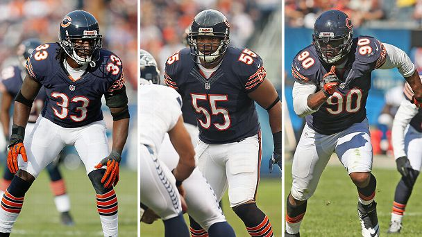 Charles Tillman, Lance Briggs, and Julius Peppers
