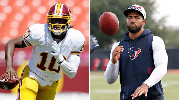 Robert Griffin III and Arian Foster