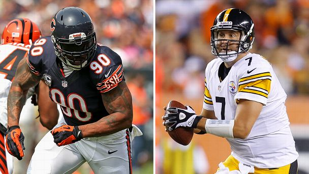 Julius Peppers and Ben Roethlisberger