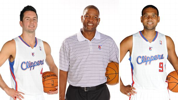 J.J. Redick, Doc Rivers and Jared Dudley