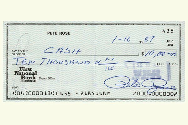 Pete Rose check