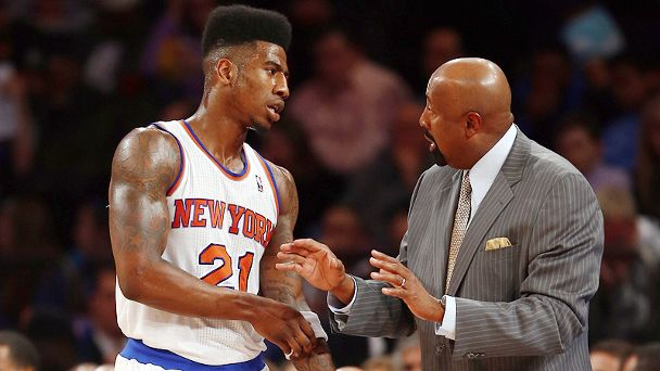 Iman Shumpert and Mike Woodson