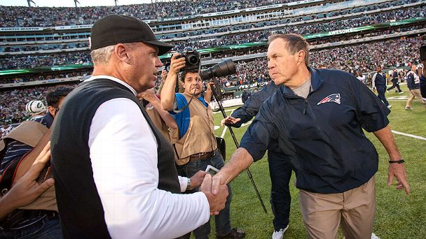 Rex Ryan and Bill Belichick
