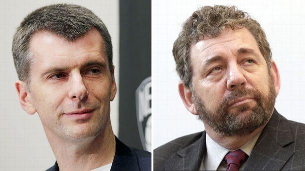 Mikhail Prokhorov and James Dolan