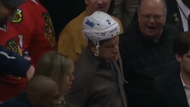 NHL Grab Bag: Blackhawks Couple Raise Bar For In-Game Pardying (humor)