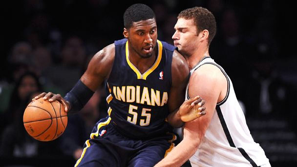Roy Hibbert and Brook Lopez