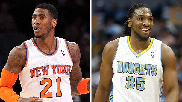 Iman Shumpert and Kenneth Faried