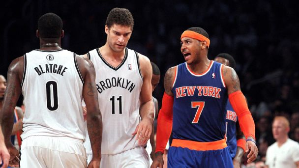 Brook Lopez and Carmelo Anthony