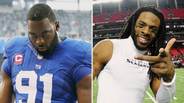 Justin Tuck and Richard Sherman
