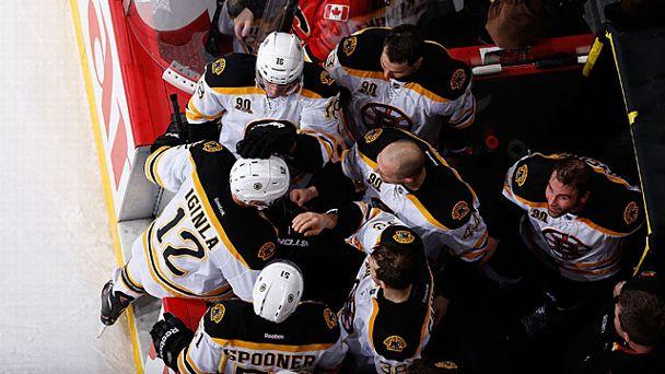 Jarome Iginla #12 of the Boston Bruins