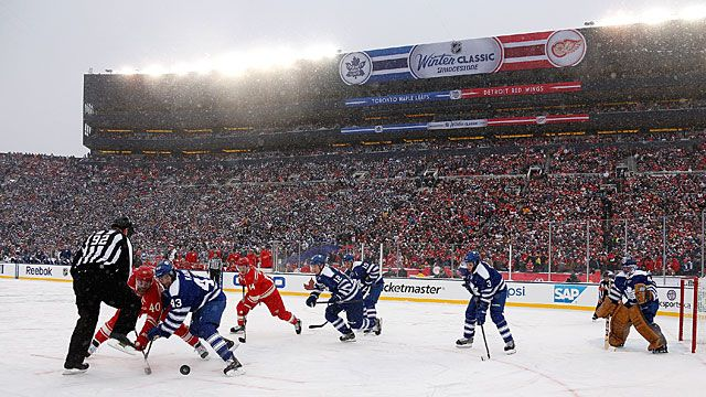 So Chill: Thousands Of Diehards Braving The Snow, The Big House Divided - This Year's Winter Classic Was Simply A Beauty Of An Event