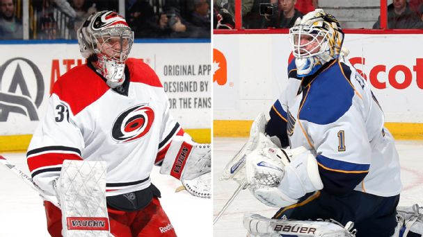 Anton Khudobin and Brian Elliott