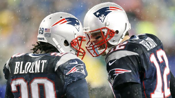 Tom Brady and LeGarrette Blount