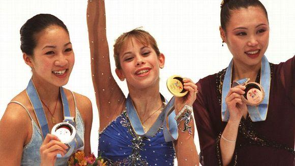 Michelle Kwan and Tara Lipinski