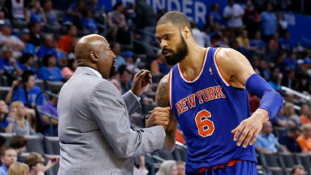 Mike Woodson and Tyson Chandler
