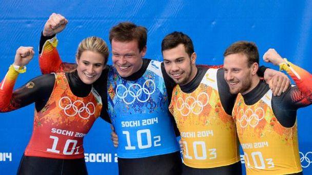 German team podium