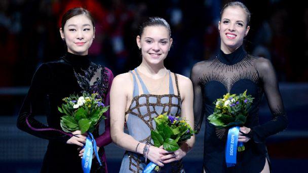 Kim Yu-Na, Adelina Sotnikova, Carolina Kostner