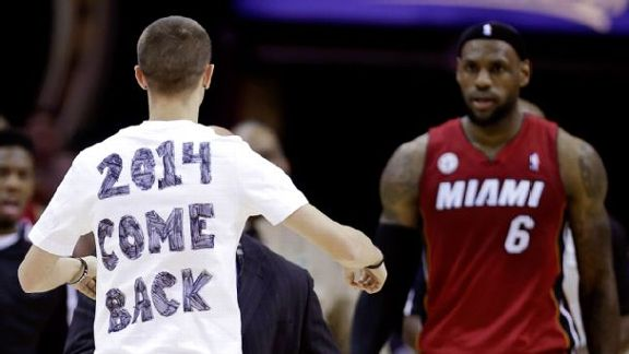 With LBJ Back In Cleveland ...
