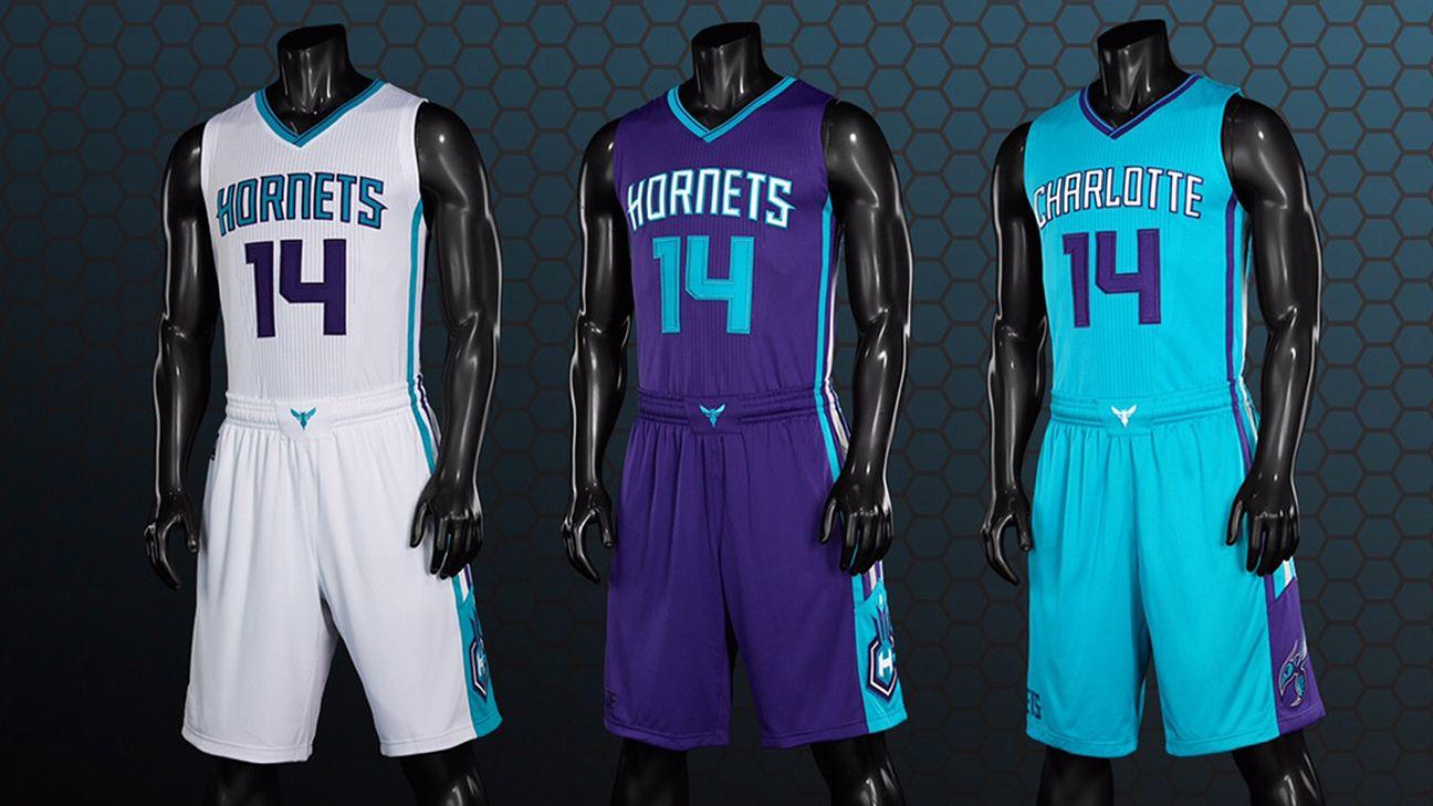 Charlotte Hornets unveil three primary new uniforms