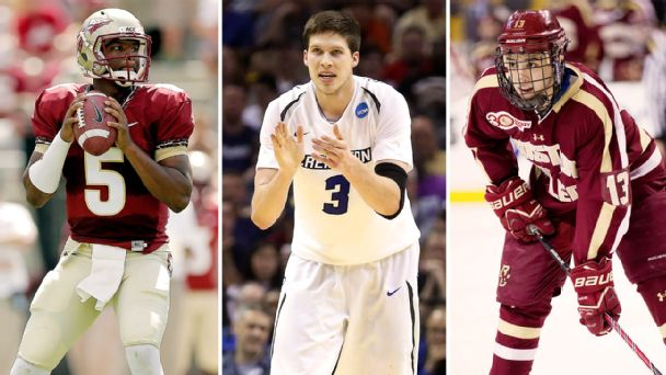 Jameis Winston, Doug McDermott, Johnny Gaudreau