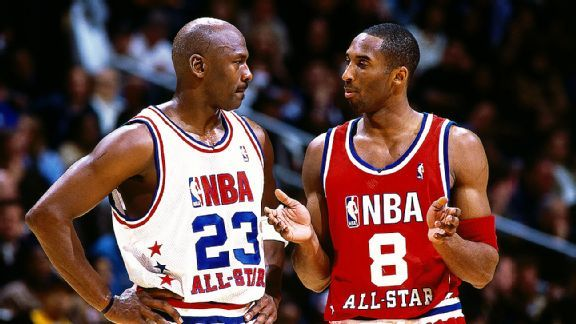 Kobe telling Jordan how it's done!