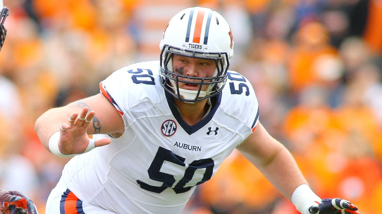 Auburn's Dismukes named Outland Trophy semifinalist