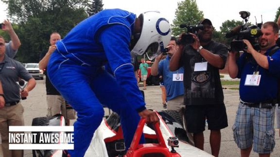 Wayne Drives Indy Car To Camp