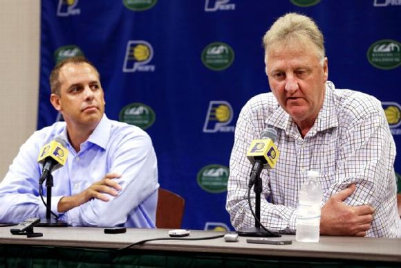 Frank Vogel and Larry Bird
