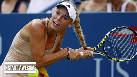 Hair Gets In Wozniacki's Way