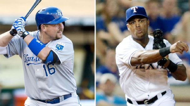 Billy Butler and Adrian Beltre