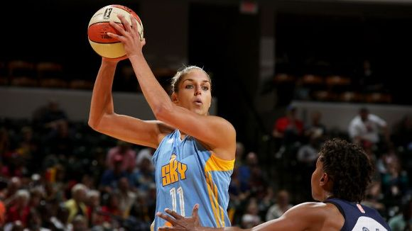 Elena Delle Donne took just 12 shots in the Chicago Sky's Game 1 loss to the Indiana Fever.