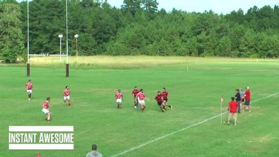 Rugby Player's Clever Fake
