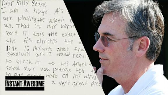 Adorable Letter To Billy Beane