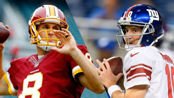 Kirk Cousins and Eli Manning