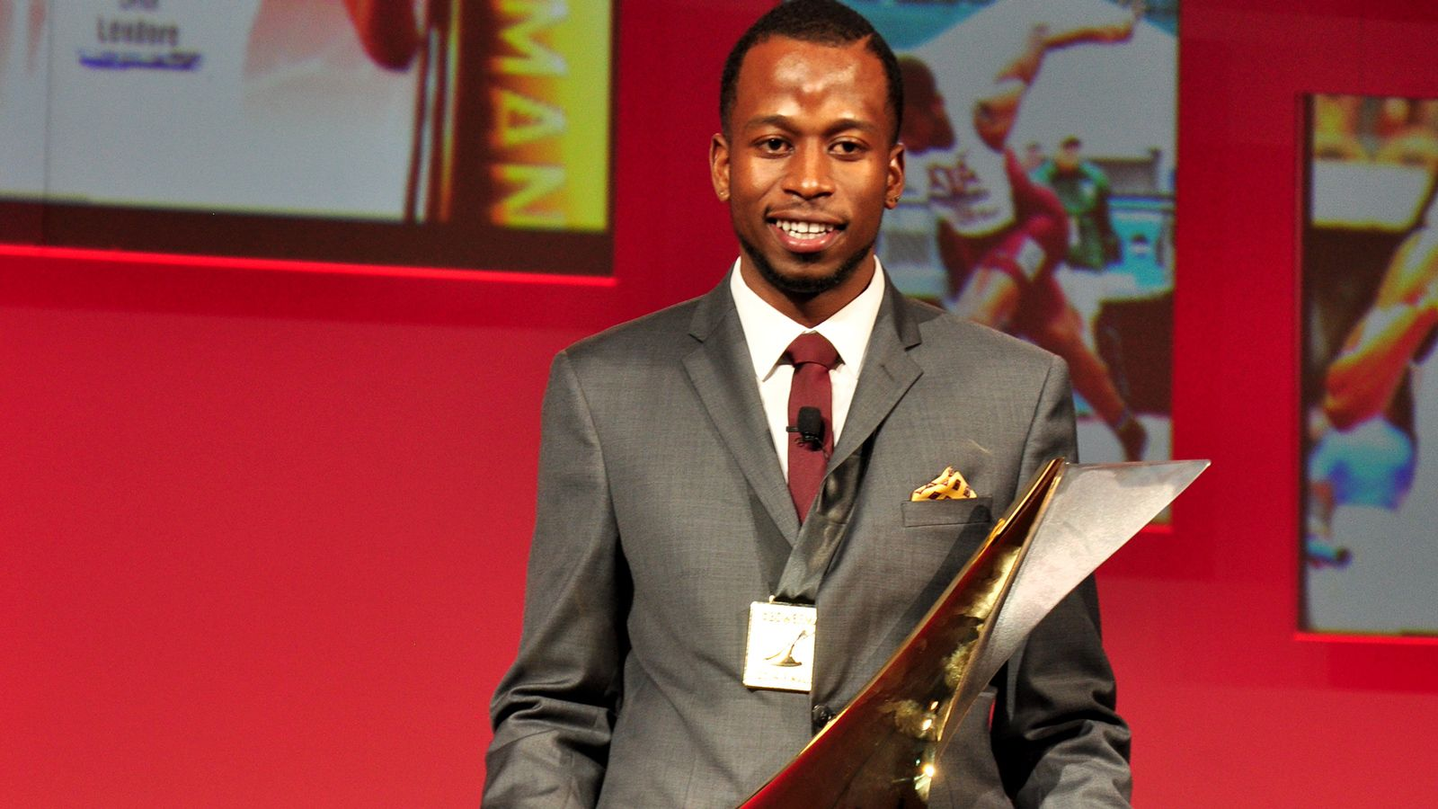 Aggie sprinter Deon Lendore wins the Bowerman Award
