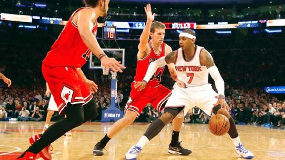 Carmelo Out Against Bulls