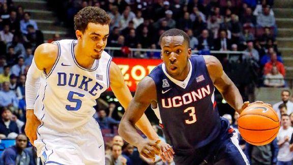 Duke Leads Battle With UConn