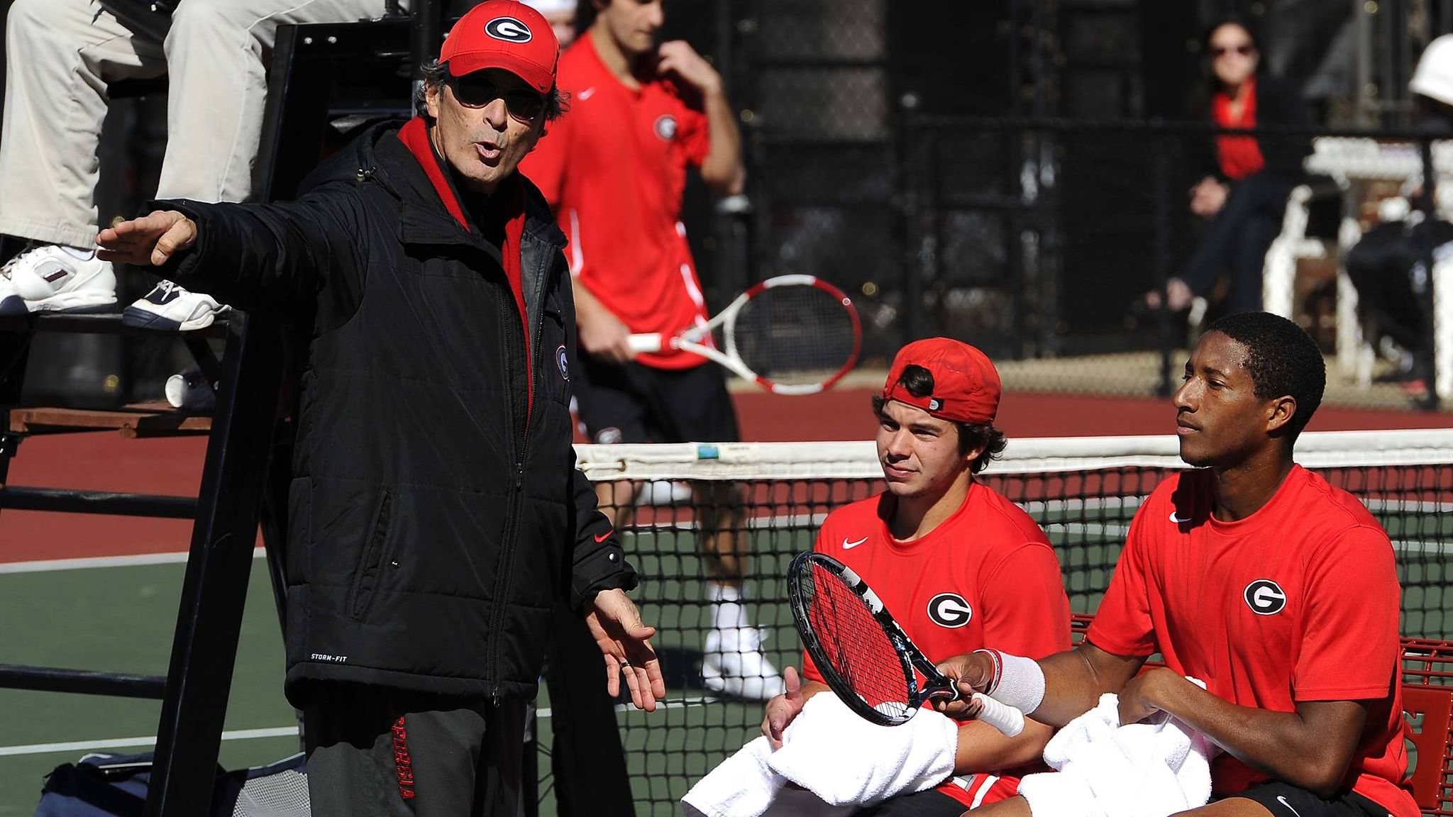 Georgia men's tennis beats UCLA 4-2