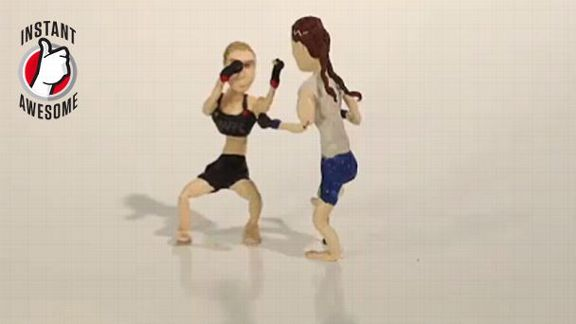 Rousey's Win In Claymation