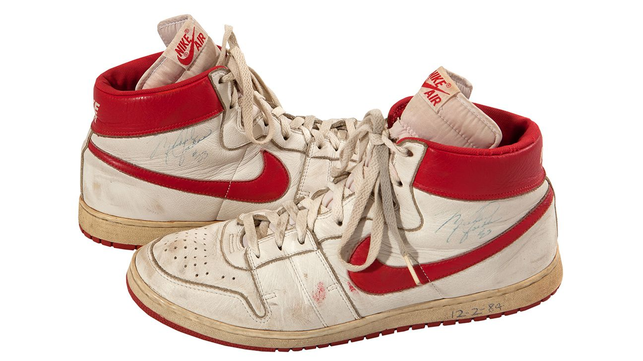 Michael Jordan shoes from 1984 sold for second-highest price for his game-worn shoes