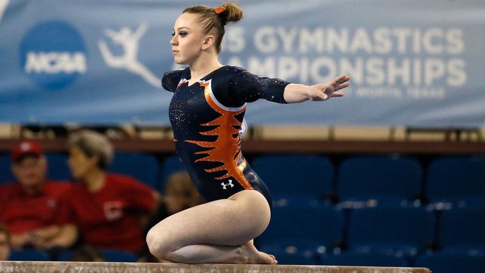 Auburn's Atkinson places eighth in beam final